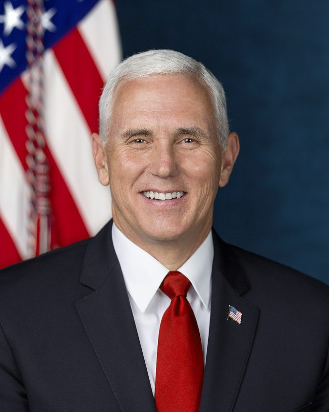 Vice President Micheal Pence poses for his official portrait at The White House, in Washington, D.C., on Tuesday, October 24, 2017. (Official White House Photo by D. Myles Cullen)